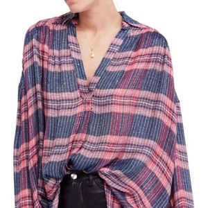 Free People   Fearless Love Bell Sleeve Shirt   S